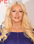 CHRISTINA AGUILERA Raises Awareness about Domestic Violence with Verizon's HopeLine Program 11-12-15