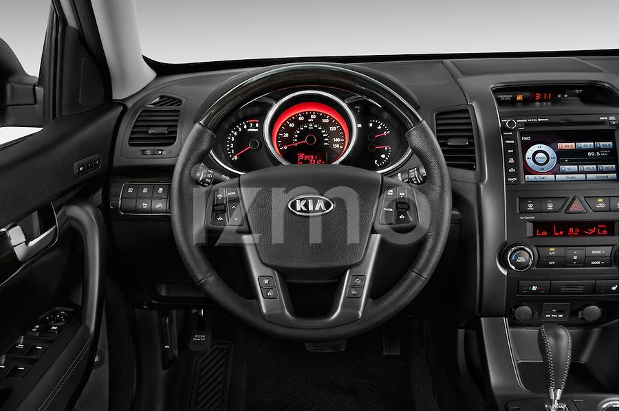 steering wheel view of a 2013 kia sorento sx 2013 kia sorento is one ...