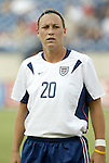 3 July 2004: Abby Wambach. The United States beat Canada 1-0 at the The Coliseum in Nashville, TN in an womens international friendly soccer game..