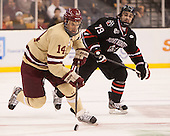 Brooks Dyroff (BC - 14) (Ferriero) - The Boston College Eagles defeated the Northeastern University Huskies 6-3 on Monday, February 11, 2013, at TD Garden in Boston, Massachusetts.
