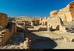 Central Roomblock, Chetro Ketl Chacoan Great House, Anasazi Hisatsinom Ancestral Pueblo Site, Chaco Culture National Historical Park, Chaco Canyon, Nageezi, New Mexico
