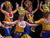 BARRANQUILLA-COLOMBIA- 11-02-2017: Comparsa Torito en Carnaval participante en La Fiesta de Danzas y Cumbias del Carnaval de Barranquilla 2016 invita a todos los colombianos a contagiarse del Jolgorio general encabezado por su reina Marcela Garcia Caballero. Este desorden organizado dará la oportunidad de apreciar a propios y extraños el desfile de danzas, disfraces y hacedores del carnaval que la convierten en una de las festividades más importantes del país y que se lleva a cabo hasta el 9 de febrero de 2016. / Torito en Carnaval comparsa paticipant of The party of Dances and Cumbias of Carnaval de Barranquilla 2016 invites all Colombians to catch the general reverly led by their Queen Marcela Garcia Caballero. This organized disorder gives the oportunity to appreciate, by friends and strangers, the parade of dancers, customes and carnival makers that make it one of the most important festivals of the country and take place until February 9, 2016.  Photo: VizzorImage / Alfonso Cervantes / Cont