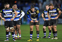 Matt Banahan of Bath Rugby looks on after the match. Aviva Premiership match, between Bath Rugby and Wasps on February 20, 2016 at the Recreation Ground in Bath, England. Photo by: Patrick Khachfe / Onside Images