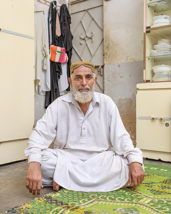 Mohammad Ali, a tannery worker, and member of a worker's union, in Karachi.