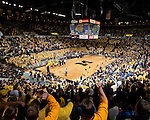 University of Michigan men's basketball 67-60 overtime loss to #3 Kansas at Crisler Arena in Ann Arbor, MI, on January 9, 2011.