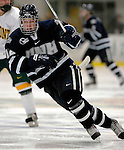 5 January 2007: University of New Hampshire forward Bobby Butler (12) from Marlborough, MA, in action against the University of Vermont Catamounts at Gutterson Fieldhouse in Burlington, Vermont. The UNH Wildcats defeated Vermont 7-1 in front of a record setting 48th consecutive sellout at &quot;the Gut&quot;...Mandatory Photo Credit: Ed Wolfstein Photo.<br />