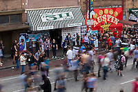 An epic street bash along the 6th Street bar corridor in Austin, Texas, during SXSW