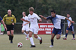 10 November 2007: NC State's Lucas Carpenter (14) is chased by Duke's Pavelid Castaneda (17). The Duke University Blue Devils defeated the North Carolina State University Wolfpack 2-0 at Method Road Soccer Stadium in Raleigh, North Carolina in an Atlantic Coast Conference NCAA Division I Men's Soccer game.