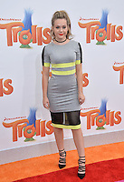 LOS ANGELES, CA. October 23, 2016: Actress Brec Bassinger at the Los Angeles premiere of &quot;Trolls&quot; at the Regency Village Theatre, Westwood.<br /> Picture: Paul Smith/Featureflash/SilverHub 0208 004 5359/ 07711 972644 Editors@silverhubmedia.com