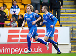 St Johnstone v Hibs...02.10.10  .Liam Craig celebrates his goal with Dave Mackay.Picture by Graeme Hart..Copyright Perthshire Picture Agency.Tel: 01738 623350  Mobile: 07990 594431