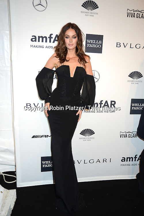 Nicole Trunfio attends the amfAR New York Gala on February 5, 2014 at Cipriani Wall Street in New York City.