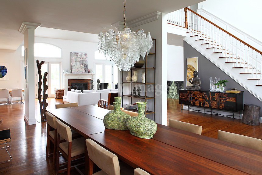 luxury contemporary house with artworks