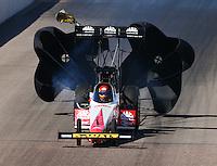 Feb 27, 2016; Chandler, AZ, USA; NHRA top fuel driver Doug Kalitta during qualifying for the Carquest Nationals at Wild Horse Pass Motorsports Park. Mandatory Credit: Mark J. Rebilas-