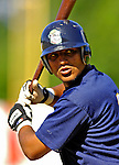 12 July 2007: Mahoning Valley Scrappers outfielder Ramon Alvarado warms up prior to a game against the Vermont Lake Monsters at Historic Centennial Field in Burlington, Vermont. The Scrappers defeated the Lake Monsters 11-2 in the first game of their NY Penn-League double-header...Mandatory Photo Credit: Ed Wolfstein Photo