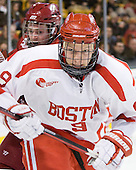 (Ford) Alex Chiasson (BU - 9) - The Harvard University Crimson defeated the Boston University Terriers 5-4 in the 2011 Beanpot consolation game on Monday, February 14, 2011, at TD Garden in Boston, Massachusetts.