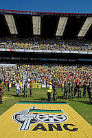 African National Congress (ANC) election rally held at the Ellis Park Stadium in Johannesburg..