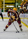 24 November 2012: University of Minnesota Golden Gopher forward A.J. Michaelson, a Freshman from Apple Valley, MN, in action against the University of Vermont Catamounts at Gutterson Fieldhouse in Burlington, Vermont. The Gophers defeated the Catamounts 3-1 in the second game of their 2-game non-divisional weekend series. Mandatory Credit: Ed Wolfstein Photo