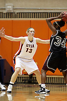 SAN ANTONIO, TX - NOVEMBER 14, 2008: The Texas A&M International University Dustdevils vs. The University of Texas at San Antonio Roadrunners Women's Basketball at the UTSA Convocation Center. (Photo by Jeff Huehn)