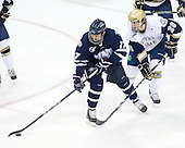 Paul Thompson (UNH - 17), Stephen Johns (Notre Dame - 28) - The University of Notre Dame Fighting Irish defeated the University of New Hampshire Wildcats 2-1 in the NCAA Northeast Regional Final on Sunday, March 27, 2011, at Verizon Wireless Arena in Manchester, New Hampshire.