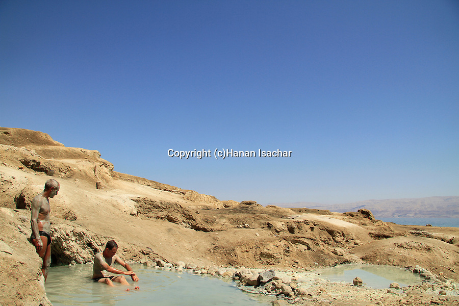 The Dead Sea, the hot spring at Nahal Kedem