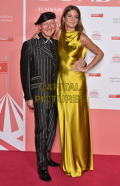 Stephen Jones &amp; Millie Mackintosh<br /> arrivals at London's Fabulous Fund Fair 2016 in aid of the Naked Heart Foundation at Old Billingsgate Market on 20th February 2016.<br /> CAP/PL<br /> &copy;Phil Loftus/Capital Pictures