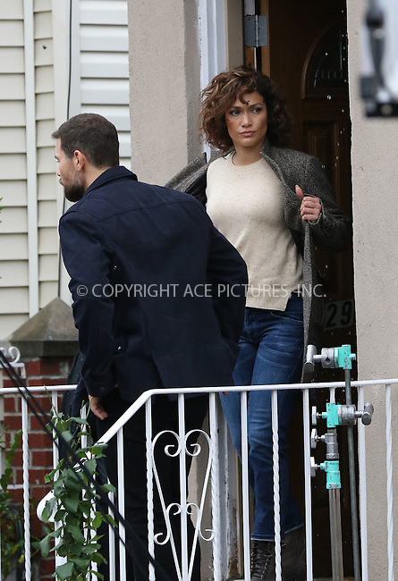 WWW.ACEPIXS.COM<br /> <br /> November 10 2015, New York City<br /> <br /> Actors Jennifer Lopez and Gino Anthony Pesi were on the set of the new TV show 'Shades of Blue' on November 10 2015 in New York City<br /> <br /> By Line: Zelig Shaul/ACE Pictures<br /> <br /> <br /> ACE Pictures, Inc.<br /> tel: 646 769 0430<br /> Email: info@acepixs.com<br /> www.acepixs.com