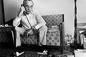 WARSAW, POLAND, SEPTEMBER 18,1991: Polish Prime Minister Tadeusz Mazowiecki at his home in Warsaw.<br /> (Photo by Piotr Malecki / Napo Images)<br /> <br /> WARSZAWA, 18.09.1991:<br /> Premier Tadeusz Mazowiecki w swoim domu w Warszawie.<br /> Fot: Piotr Malecki / Napo Images