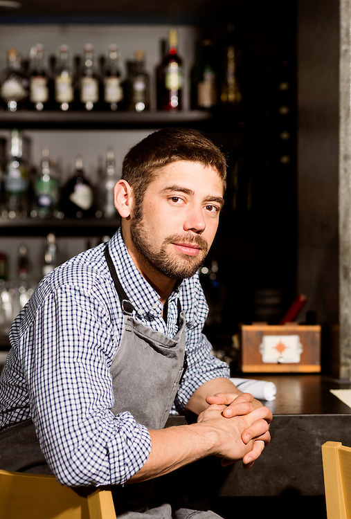 April 7, 2016. Raleigh, North Carolina. <br /> Teddy Klopf is the executive chef and co-owner of Provenance, a new restaurant that opened in March on E. Martin Street in downtown Raleigh.