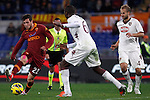 Calcio, Serie A: AS Roma vs Torino. Roma, stadio Olimpico, 19 novembre 2012..AS Roma forward Mattia Destro, left, is challenged by Torino defender Angelo Ogbonna, center, and Torino midfielder Migjen Basha, of Switzerland, during the Italian Serie A football match between AS Roma and Torino at Rome's Olympic stadium, 19 November 2012..UPDATE IMAGES PRESS/Isabella Bonotto
