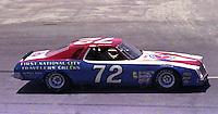 Benny parsons #72 Chevy at the 1977 Firecracker 400 at Daytona Internationa Spedway in Daytona Beach, FL in July 1977.(Photo by Brian Cleary/www.bcpix.com)