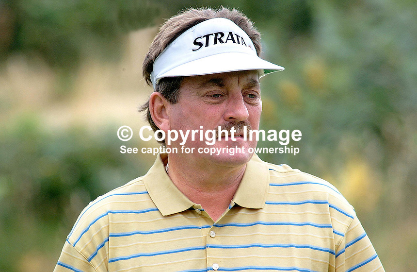 Ian Stanley, professional golfer, Australia. Taken at British Seniors Open Championship at Royal County Down, Newcastle, N Ireland. Ref: 200107293002..Copyright Image from Victor Patterson, 54 Dorchester Park, Belfast, UK, BT9 6RJ..Tel: +44 28 9066 1296.Mob: +44 7802 353836.Voicemail +44 20 8816 7153.Skype: victorpattersonbelfast.Email: victorpatterson@mac.com.Email: victorpatterson@ireland.com (back-up)..IMPORTANT: If you wish to use this image or any other of my images please go to www.victorpatterson.com and click on the Terms & Conditions. Then contact me by email or phone with the reference number(s) of the image(s) concerned.