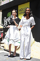 NEW YORK, NY - JUNE 22:   Allison Williams and Kelly Rowland attend Breyers Ice Cream 150th Birthday Blowout celebration in Madison Square Park in New York, New York on June 22, 2016.  Photo Credit: Rainmaker Photo/MediaPunch