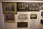 Elgin City 3 Edinburgh City 0, 13/08/2016. Borough Briggs, Scottish League Two. Vintage photographs next to the dressing rooms at Borough Briggs, home to Elgin City, on the day they played SPFL2 newcomers Edinburgh City. Elgin City were a former Highland League club who were elected to the Scottish League in 2000, whereas Edinburgh City became the first club to gain promotion to the League by winning the Lowland League title and subsequent play-off matches in 2015-16. This match, Edinburgh City's first away Scottish League match since 1949, ended in a 3-0 defeat, watched by a crowd of 610. Photo by Colin McPherson.