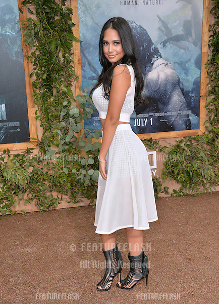 LOS ANGELES, CA. June 27, 2016: Actress Emily Tosta at the world premiere of &quot;The Legend of Tarzan&quot; at the Dolby Theatre, Hollywood.<br /> Picture: Paul Smith / Featureflash