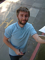 James Buckley at the ITV Studios on 23 July 2014