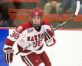 Conor Morrison (Harvard - 38) - The Harvard University Crimson defeated the St. Lawrence University Saints 4-3 on senior night Saturday, February 26, 2011, at Bright Hockey Center in Cambridge, Massachusetts.