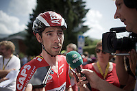 Thomas De Gendt (BEL/Lotto-Soudal) interviewed after finishing and leading the standings thus far...<br /> <br /> Stage 18 (ITT) - Sallanches &rsaquo; Meg&egrave;ve (17km)<br /> 103rd Tour de France 2016