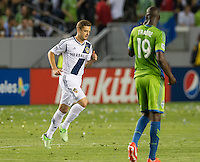 CARSON, CA - May 26, 2012: LA Galaxy forward Robbie Rogers (14) enters the LA Galaxy vs Seattle Sounders match at the Home Depot Center in Carson, California. Final score, LA Galaxy 4, Seattle Sounders 0.