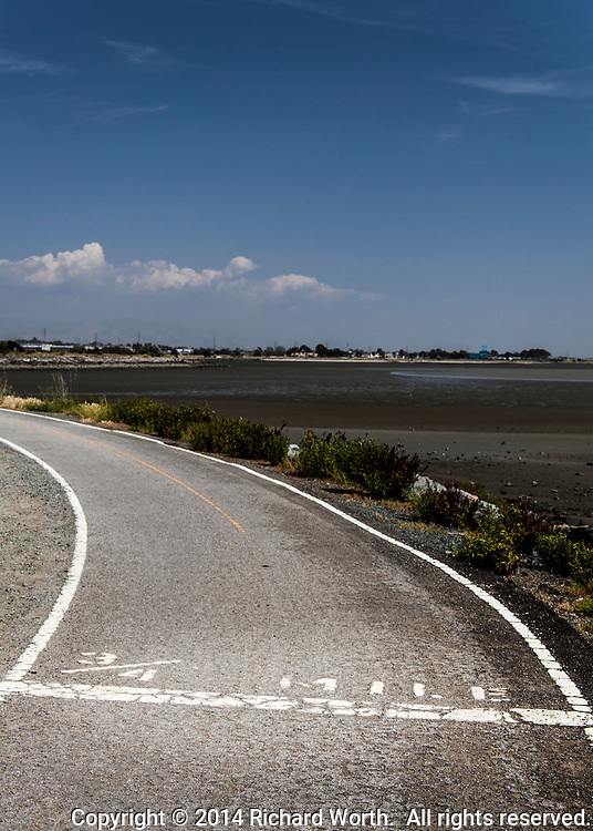 The 3/4 Mile mark along the San  Francisco Trail in San Leandro, CA.