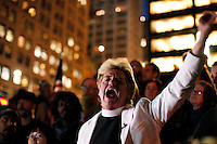 NewYork, United States, October 25, 2011.Reverend Billy visit Occupy Wall Street movement, in Zuccotti Park in New York October 25, 2011. VIEWpress /Kena Betancur..The Church of Life After Shopping also known as the Church of Stop Shopping is an activist performance group based in New York City, led by Reverend Billy,.Local media report...