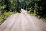 .Hungry Jack Road off the Gunt Flint Tail,   one of the gateways to the Boundary Waters Canoe Area Wilderness in the Superior National Forest in Northern Minnesota.