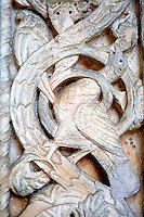 Medieval  carving of the Cathedral museum chapel, Amalfi, Italy