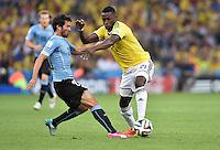 FUSSBALL WM 2014 ACHTELFINALE Kolumbien - Uruguay