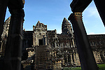The central temple complex at Angkor Wat, Cambodia. June 9, 2013.