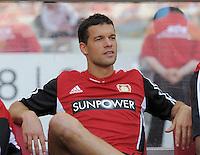 FUSSBALL   1. BUNDESLIGA  SAISON 2011/2012   3. Spieltag     20.08.2011 VfB Stuttgart - Bayer Leverkusen        Michael Ballack (Bayer 04 Leverkusen) auf der Bank