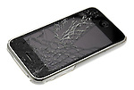 Apple Iphone 3GS Smartphone with a Broken Screen - Mar 2012