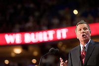 TAMPA, FL - August 27, 2012 - Remarks by Governor John Kasich (OH) at the 2012 Republican National Convention.