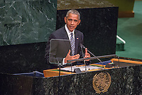 President Barack Obama at the  General Debate in the United Nations.