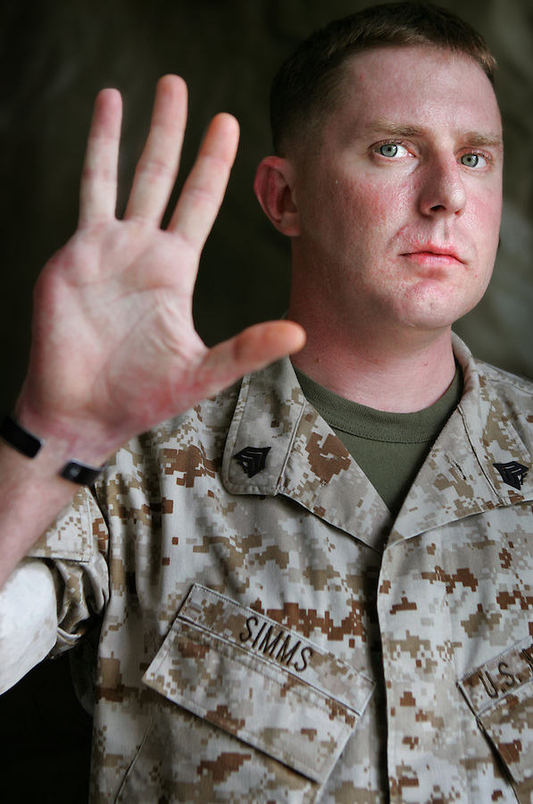Sgt. Jason Simms, 28, Philadelphia, Delta Co. 2nd Light Armored Reconnaissance Battalion. Injured July 1, 2004 in Fallujah, Iraq.