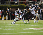 Ole Miss running back Jeff Scott (3) is tackled by Texas A&amp;M defensive back Howard Matthews (31) at Vaught-Hemingway Stadium in Oxford, Miss. on Saturday, October 6, 2012. Texas A&amp;M rallied from a 27-17 4th quarter deficit to win 30-27.